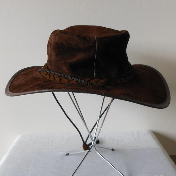 4f47721af88 Australian Leather Western Cowboy Hat Boho Hippie.  M 5b7dc20d04e33dd810e5b1c3